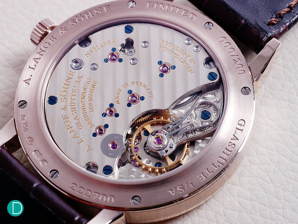 The L.051.1 movement which powers the Lange 1815.