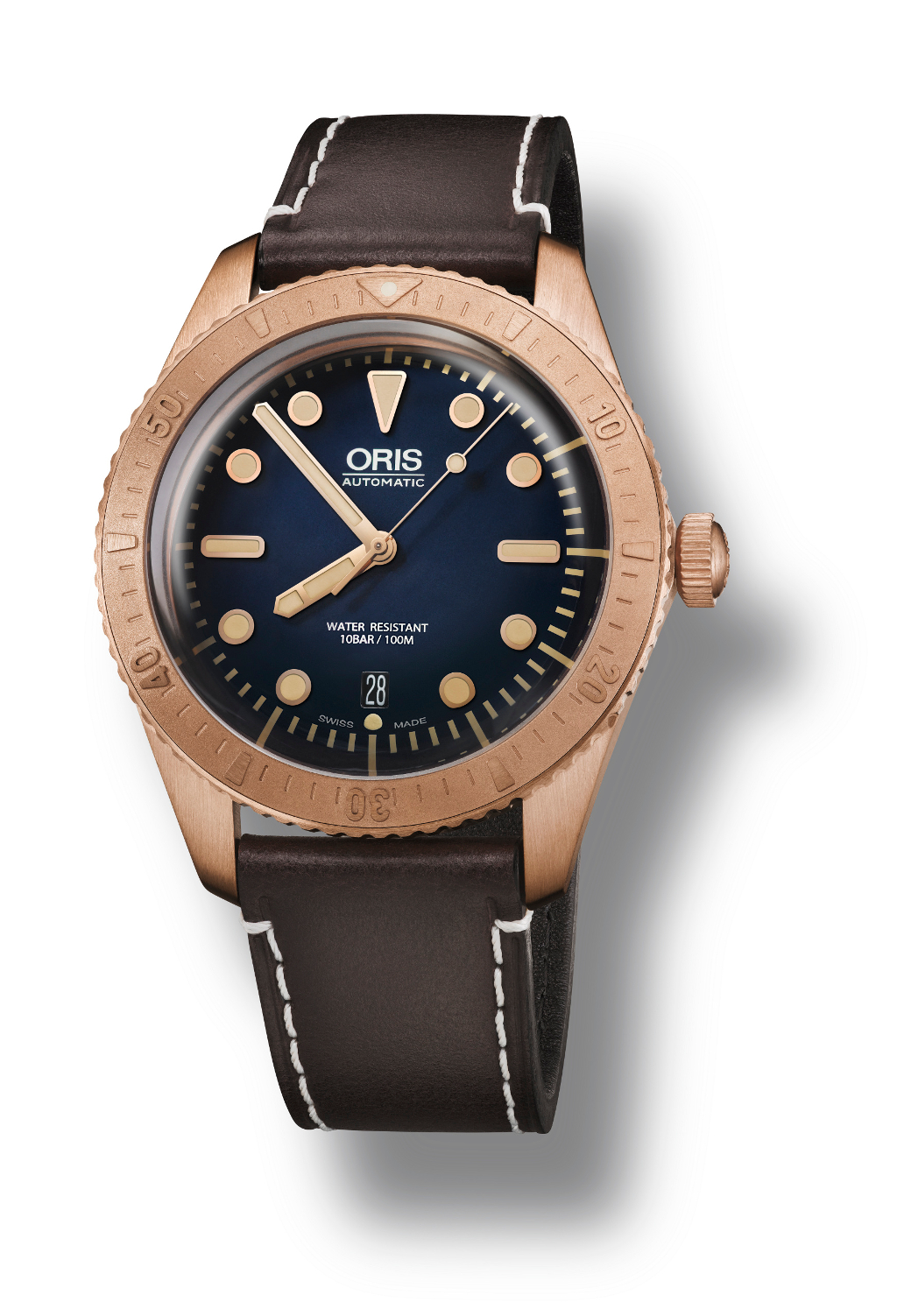 The Oris Carl Brashear Limited Edition. This is the first Oris watch to be cased in Bronze.