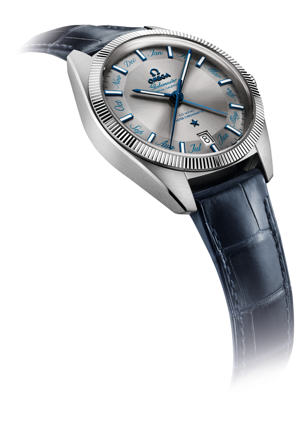 The watch is available in several variants, in which the one pictured above is fitted with a stainless steel case and a tungstun carbide bezel.