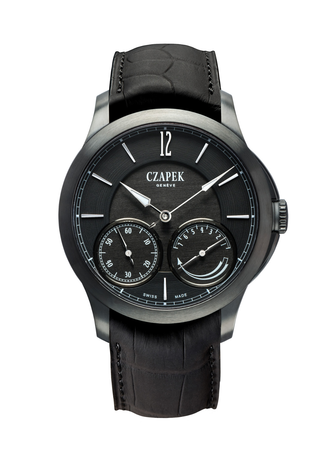 The Czapek & Cie. Quai de Bergues N.27, with the Diamondblack ADLC casing.