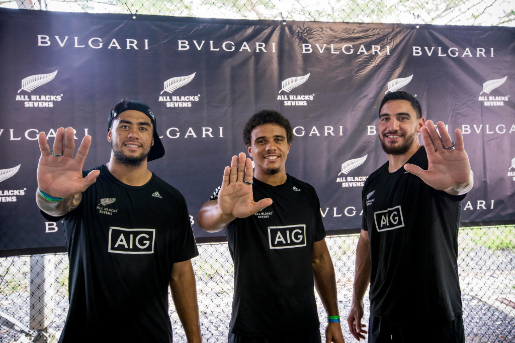 The Rugby Clinic session by the All Blacks Sevens, featuring Regan Ware, isaac Te Temaki and Teddy Stanaway.