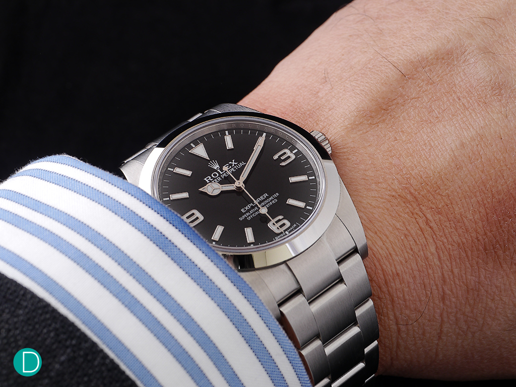 The Rolex New Explorer on the wrist. 39mm never felt so comfortable and a tool watch look so cool.