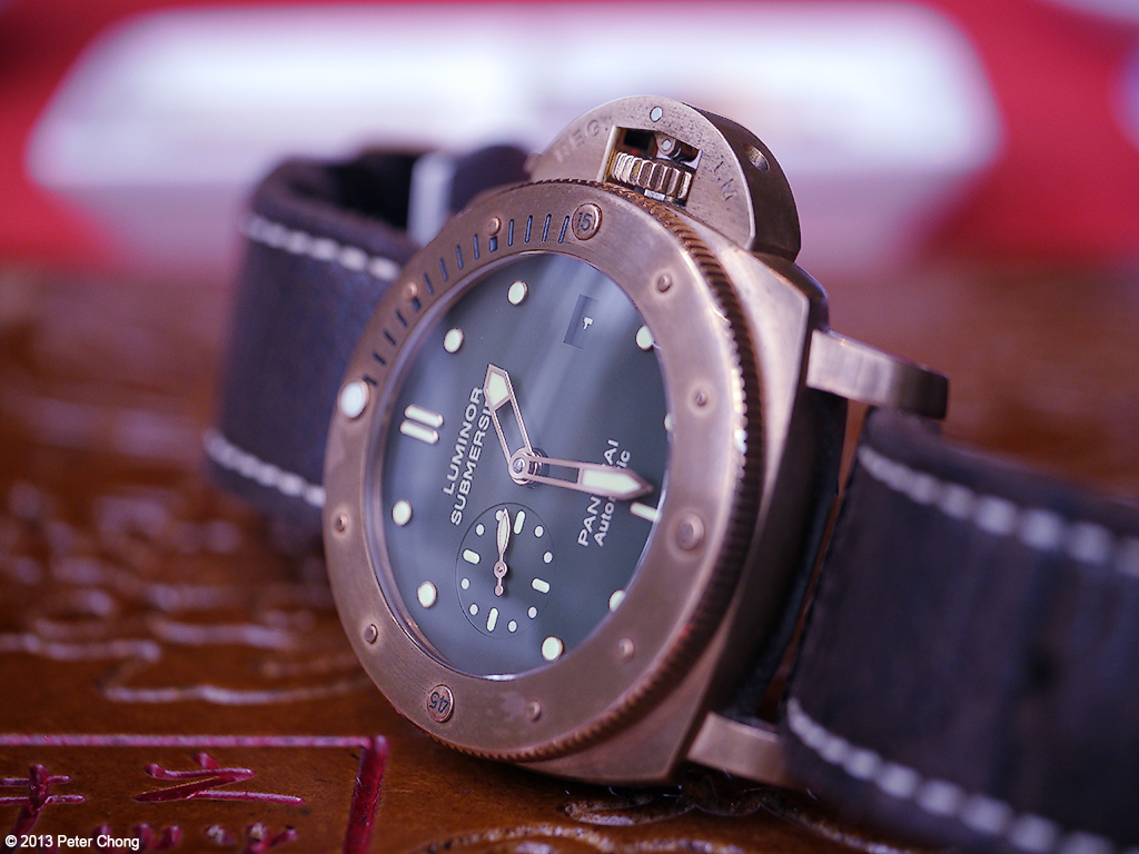 "The granddaddy of all bronze watches - the Panerai PAM382, also known as the ""Bronzo""."