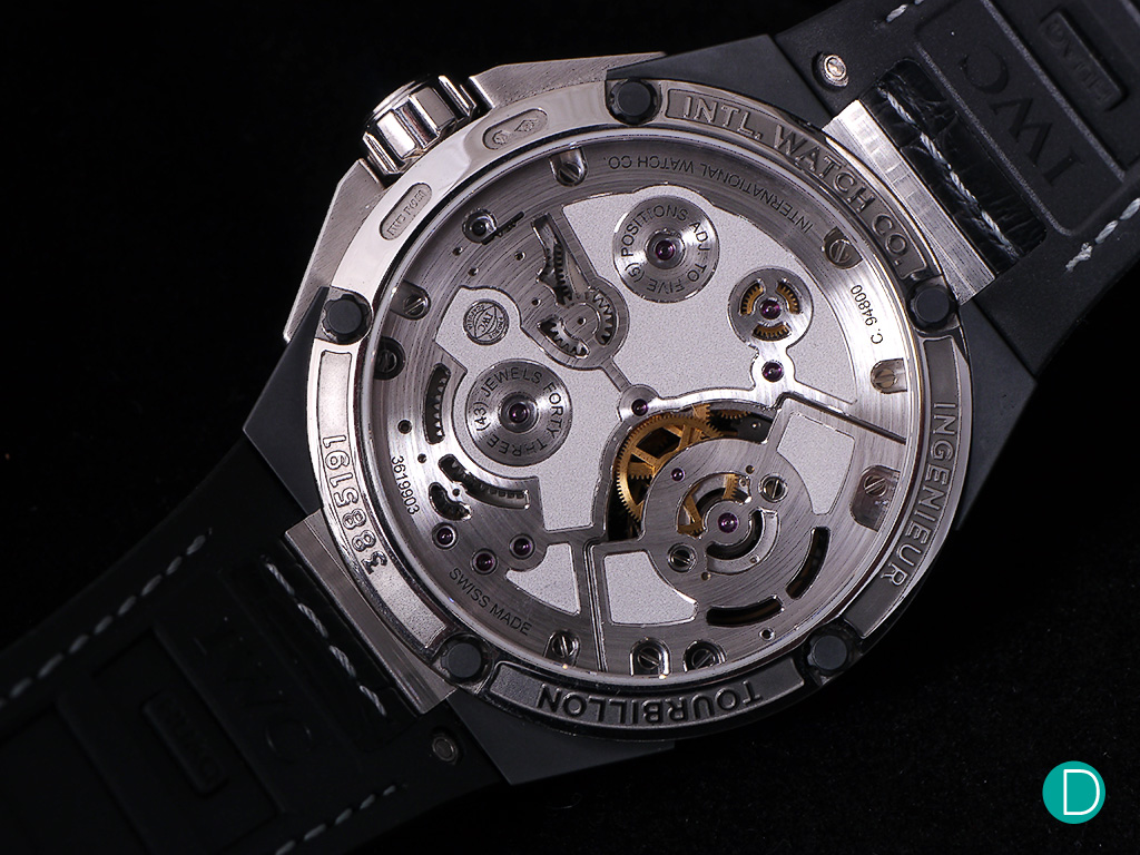 The watch features the 94800 caliber