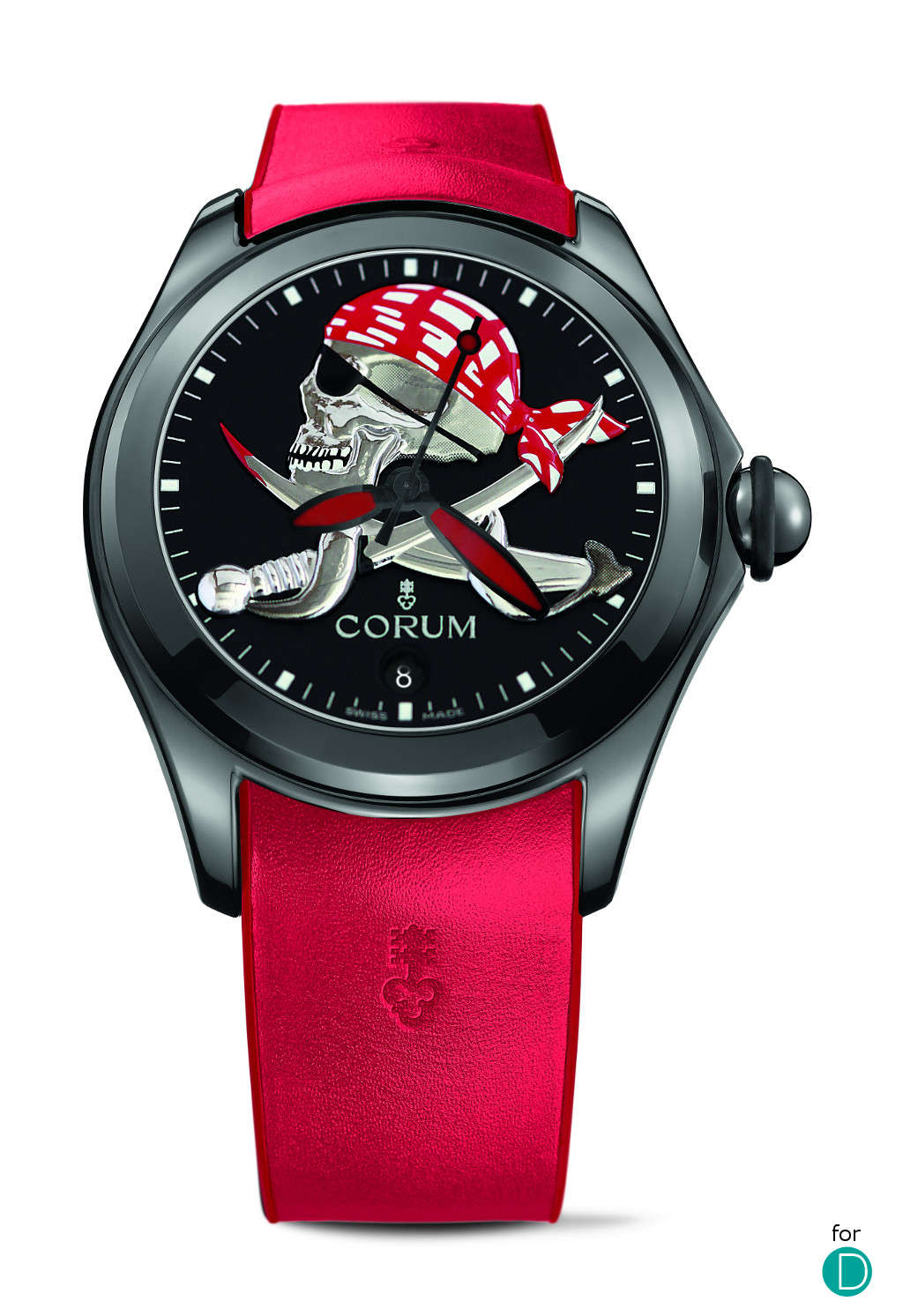 "One of the three Corum Bubble Halloween specials - this is the ""Pirate""."