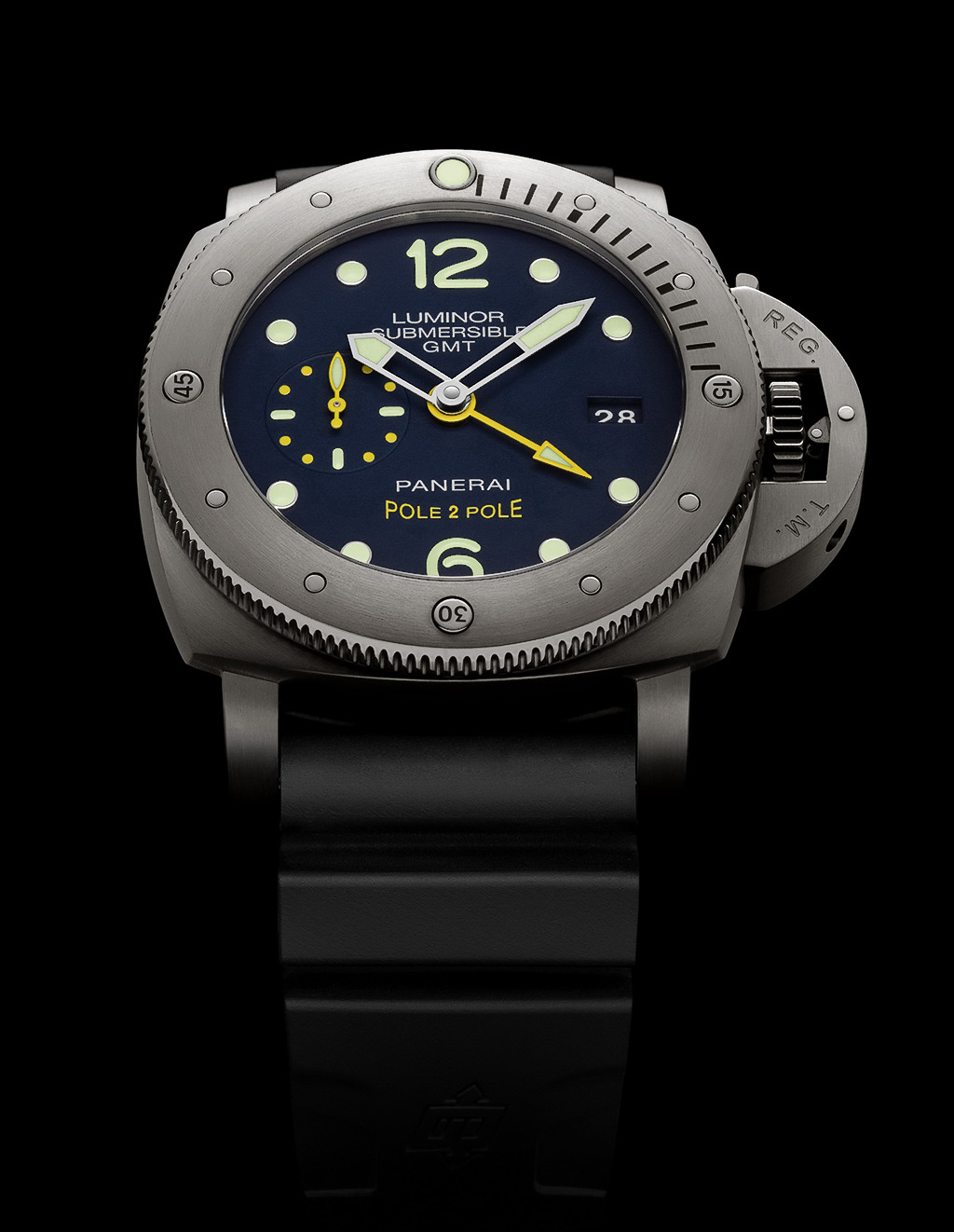 Luminor Submersible 1950 3 Days GMT Automatic copy watch